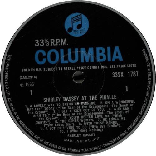 953c32837d5 Shirley Bassey At The Pigalle UK vinyl LP album (LP record)