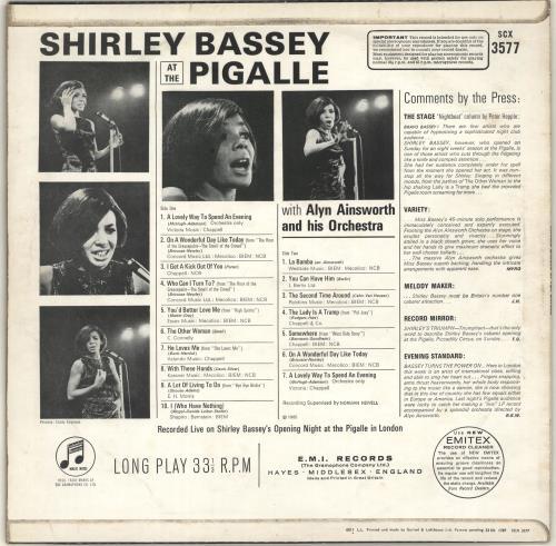 b7691bb7ce1 Shirley Bassey At The Pigalle UK vinyl LP album (LP record) (699288)