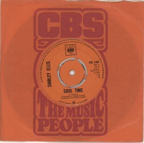 """Shirley Ellis Soul Time - 4pr 7"""" vinyl single (7 inch record) UK S1V07SO728145"""