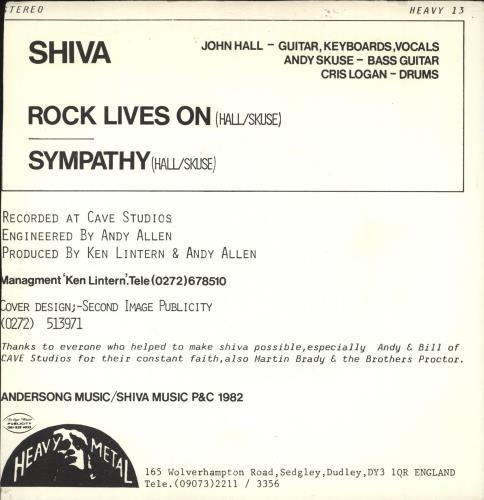 Shiva Rock Lives On UK 7
