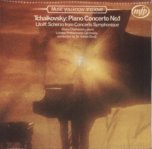 Shura Cherkassky Tchaikovsky: Piano Concerto No  1 UK vinyl LP album (LP  record)