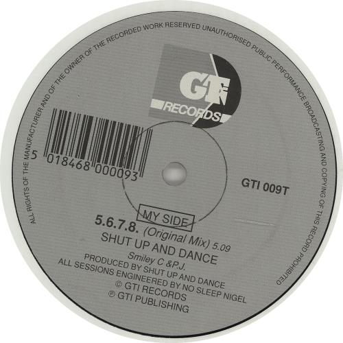 "Shut Up & Dance 5.6.7.8. 12"" vinyl single (12 inch record / Maxi-single) UK SHT12671985"