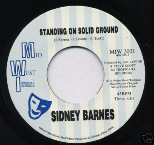 """Sidney Barnes Standing On Solid Ground 7"""" vinyl single (7 inch record) US SN-07ST384687"""