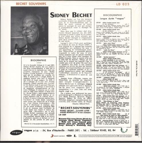 Sidney Bechet Bechet Souvenirs - Orange Vinyl - Sealed vinyl LP album (LP record) UK SJBLPBE736496