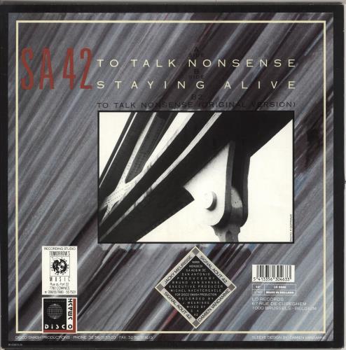 "Signal Aout 42 To Talk Nonsense 12"" vinyl single (12 inch record / Maxi-single) Belgian 0IG12TO726712"
