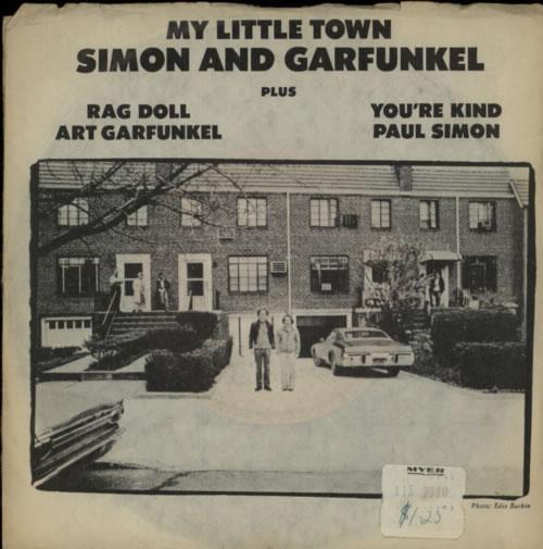 "Simon & Garfunkel My Little Town - P/S 7"" vinyl single (7 inch record) Australian SGF07MY611465"