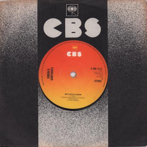 "Simon & Garfunkel My Little Town 7"" vinyl single (7 inch record) UK SGF07MY674602"