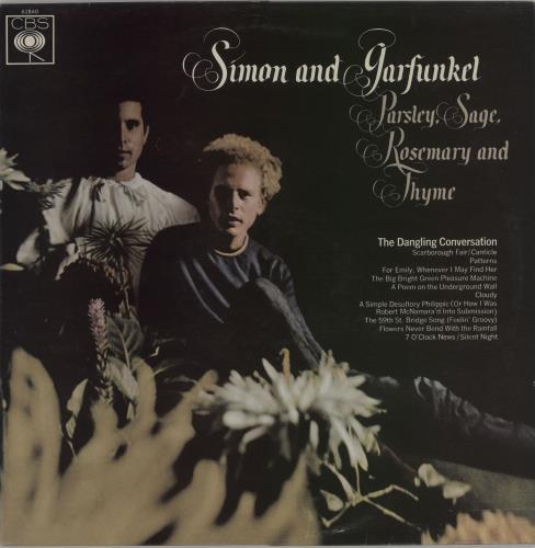 Simon & Garfunkel Parsley, Sage, Rosemary And Thyme - 2nd Matte vinyl LP album (LP record) UK SGFLPPA657935