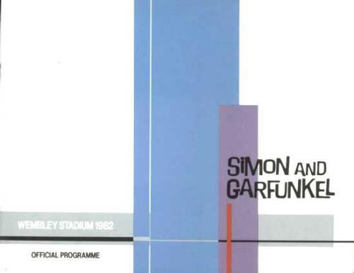 Simon & Garfunkel Wembley Stadium 1982 + Enamel Badge tour programme UK SGFTRWE693592