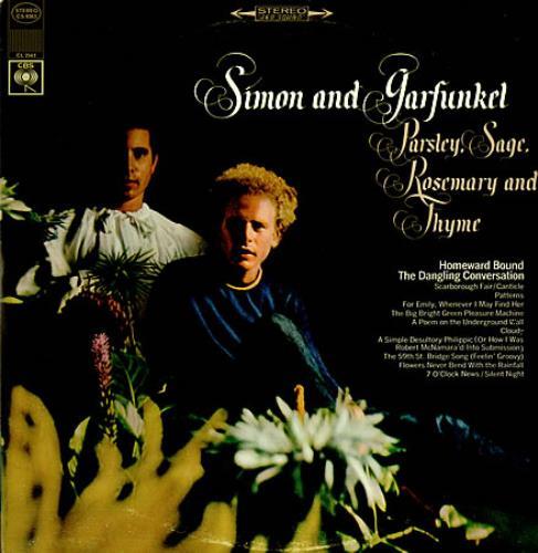 Simon Amp Garfunkel Parsley Sage Rosemary And Thyme Us