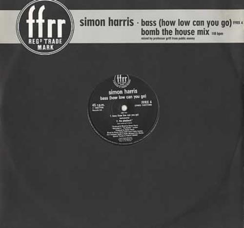 "Simon Harris Bass (How Low Can You Go) 12"" vinyl single (12 inch record / Maxi-single) UK IMN12BA186595"