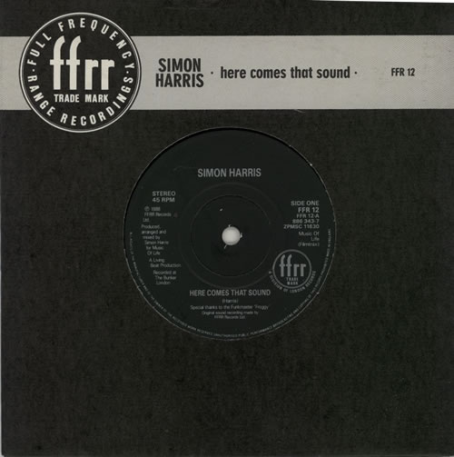 "Simon Harris Here Comes That Sound 7"" vinyl single (7 inch record) UK IMN07HE625208"