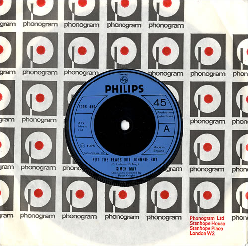 """Simon May Put The Flags Out Johnnie Boy 7"""" vinyl single (7 inch record) UK S6M07PU484479"""