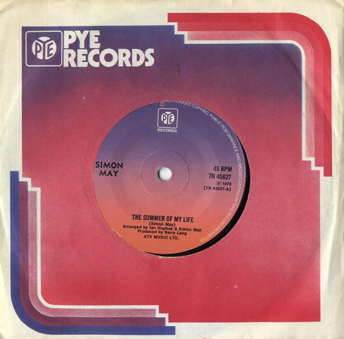"""Simon May The Summer Of My Life - Solid 7"""" vinyl single (7 inch record) UK S6M07TH567169"""