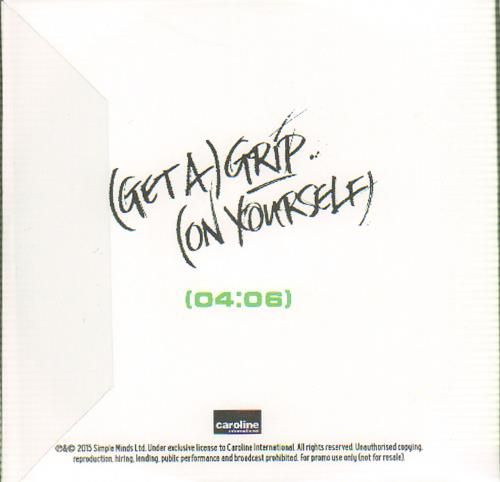 Simple Minds (Get A) Grip (On Yourself) CD-R acetate UK SIMCRGE644961