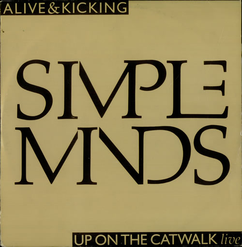 "Simple Minds Alive And Kicking - Gold sleeve 12"" vinyl single (12 inch record / Maxi-single) UK SIM12AL10069"