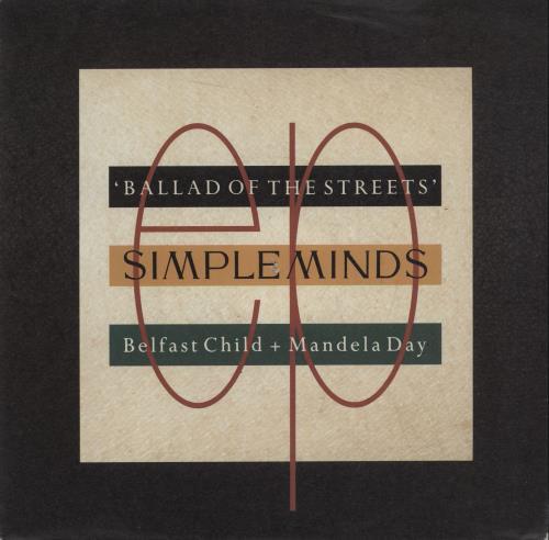 "Simple Minds Ballad Of The Streets 7"" vinyl single (7 inch record) German SIM07BA673717"