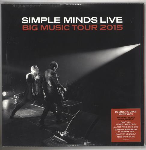 Simple Minds Big Music Tour 2015 - 180gm White Vinyl + Sealed 2-LP vinyl record set (Double Album) UK SIM2LBI739944