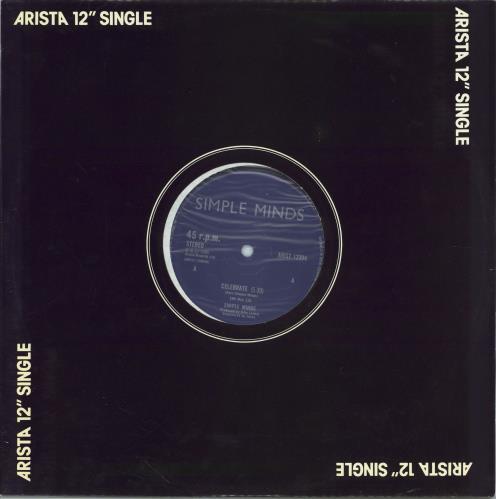 "Simple Minds Celebrate 12"" vinyl single (12 inch record / Maxi-single) UK SIM12CE199321"