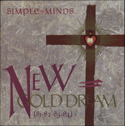 Simple Minds New Gold Dream - Purple Inner vinyl LP album (LP record) UK SIMLPNE619059