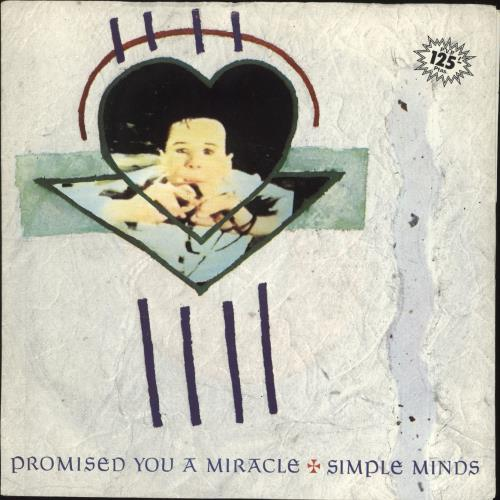 """Simple Minds Promised You A Miracle 7"""" vinyl single (7 inch record) Spanish SIM07PR724425"""