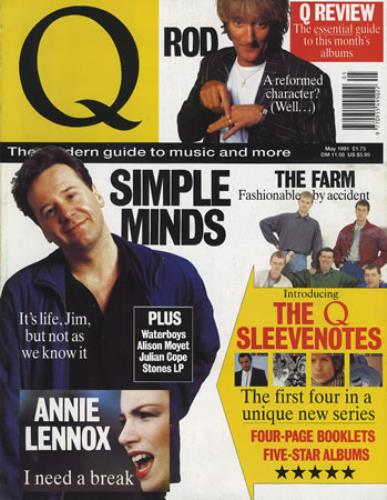 Simple Minds Q Magazine magazine UK SIMMAQM374724