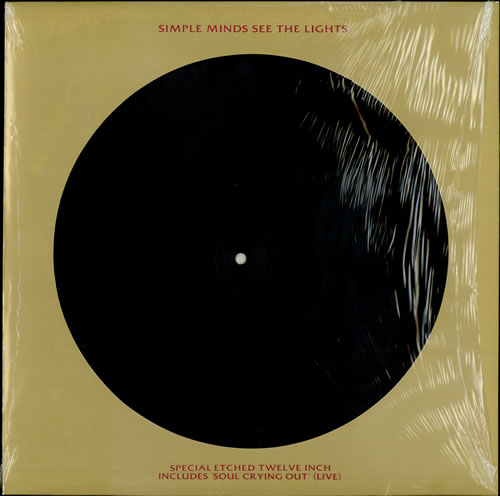 """Simple Minds See The Lights - Etched - Sealed 12"""" vinyl single (12 inch record / Maxi-single) UK SIM12SE09818"""