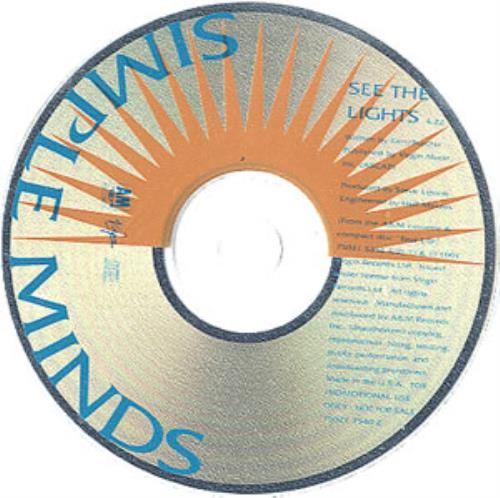 "Simple Minds See The Lights CD single (CD5 / 5"") US SIMC5SE22885"