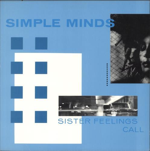 Simple Minds Sister Feelings Call vinyl LP album (LP record) US SIMLPSI742728