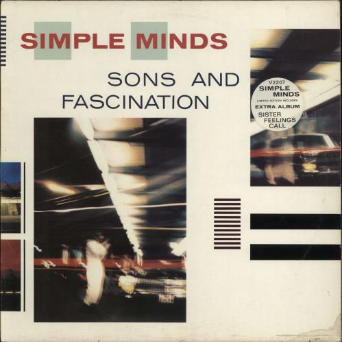 Simple Minds Sons And Fascination - Stickered Sleeve + Merch insert - EX vinyl LP album (LP record) UK SIMLPSO772184