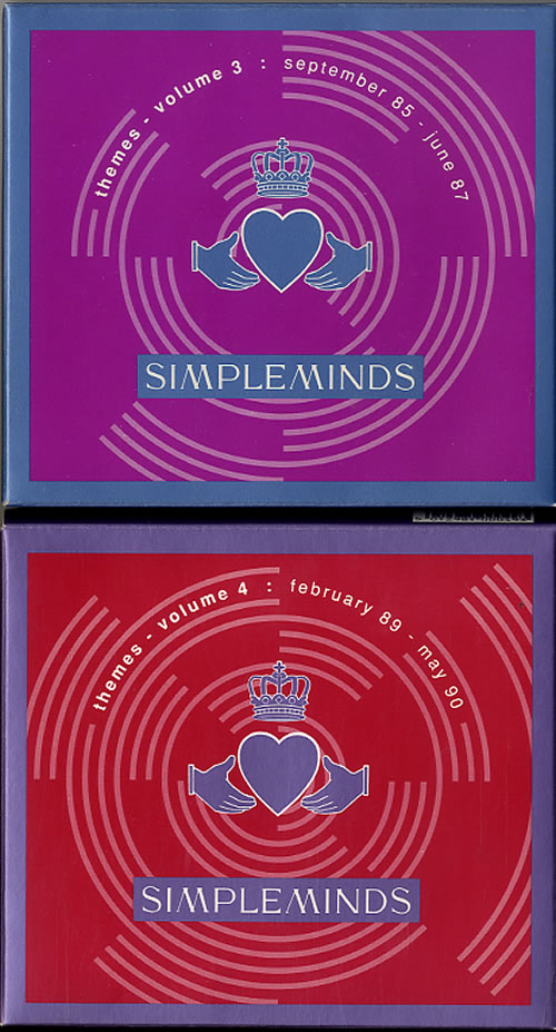 Simple Minds Themes Volumes 1-4 - Complete Set box set UK SIMBXTH294153