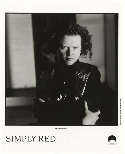 Simply Red A New Flame + Mick Hucknall Publicity Photo media press pack US REDPPAN456122