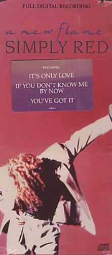 Simply Red A New Flame - longbox CD album (CDLP) US REDCDAN373793
