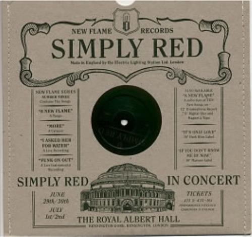 """Simply Red A New Flame 10"""" vinyl single (10"""" record) UK RED10AN11140"""