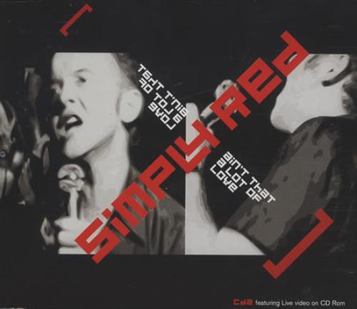 """Simply Red Ain't That A Lot Of Love - CD2 CD single (CD5 / 5"""") UK REDC5AI247509"""