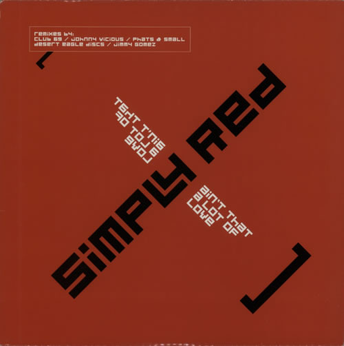 """Simply Red Ain't That A Lot Of Love - Double Pack 12"""" vinyl single (12 inch record / Maxi-single) UK RED12AI612481"""