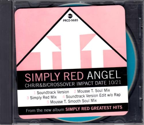 """Simply Red Angel CD single (CD5 / 5"""") US REDC5AN78975"""