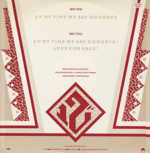 "Simply Red Ev'ry Time We Say Goodbye 12"" vinyl single (12 inch record / Maxi-single) UK RED12EV07019"