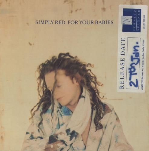"""Simply Red For Your Babies - Promo Stickered 7"""" vinyl single (7 inch record) UK RED07FO758621"""