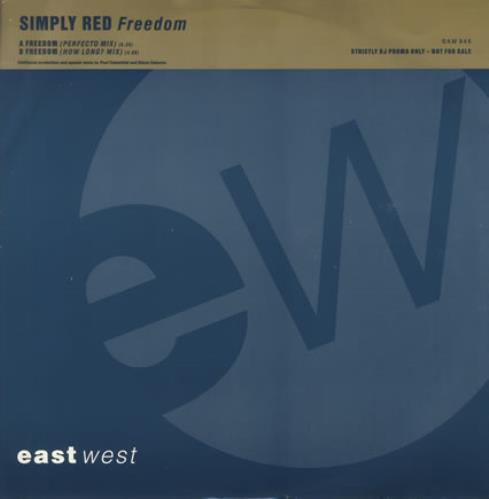 """Simply Red Freedom 12"""" vinyl single (12 inch record / Maxi-single) UK RED12FR02387"""