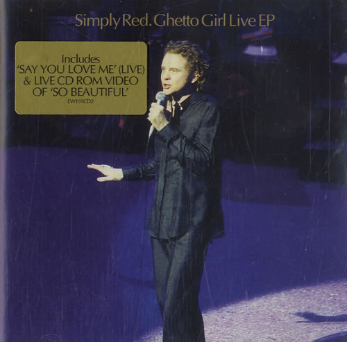 """Simply Red Ghetto Girl Live EP CD single (CD5 / 5"""") UK REDC5GH176348"""