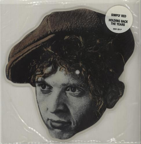 Simply Red Holding Back The Years shaped picture disc (picture disc vinyl record) UK REDSHHO15882