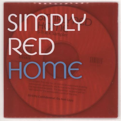 Simply Red Home CD-R acetate UK REDCRHO236662