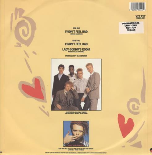 "Simply Red I Won't Feel Bad - Arthur Baker 12"" vinyl single (12 inch record / Maxi-single) UK RED12IW07661"