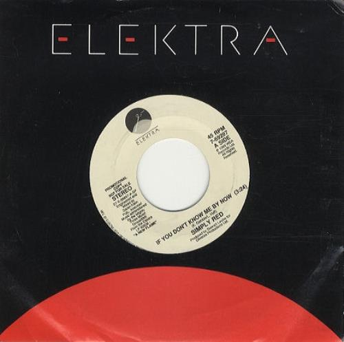 """Simply Red If You Don't Know Me By Now 7"""" vinyl single (7 inch record) US RED07IF162424"""