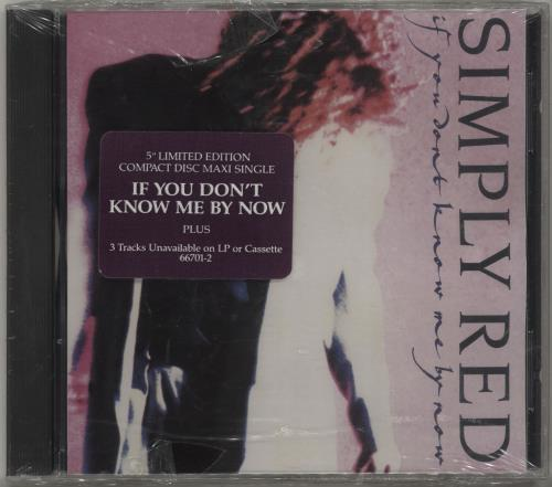"""Simply Red If You Don't Know Me By Now CD single (CD5 / 5"""") US REDC5IF680872"""