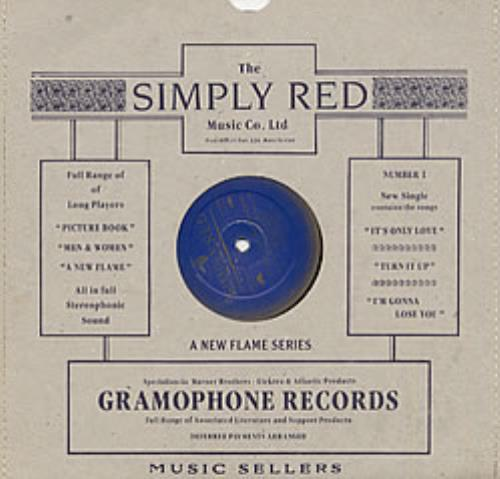 """Simply Red It's Only Love 10"""" vinyl single (10"""" record) UK RED10IT03824"""
