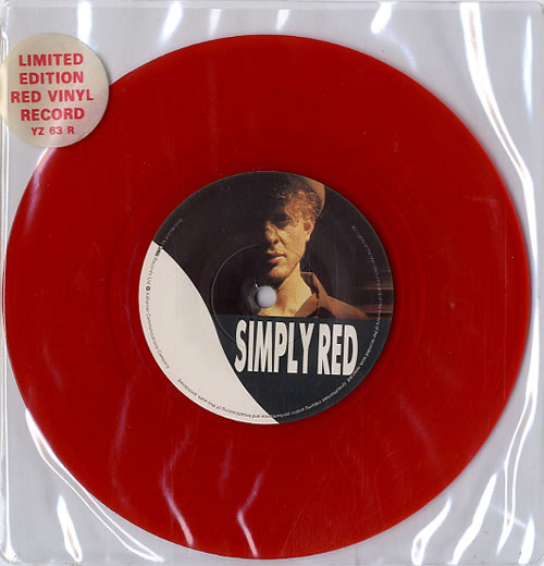 """Simply Red Jericho - Red Vinyl 7"""" vinyl single (7 inch record) UK RED07JE17348"""