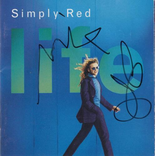 Simply Red Life - Autographed CD album (CDLP) UK REDCDLI732910