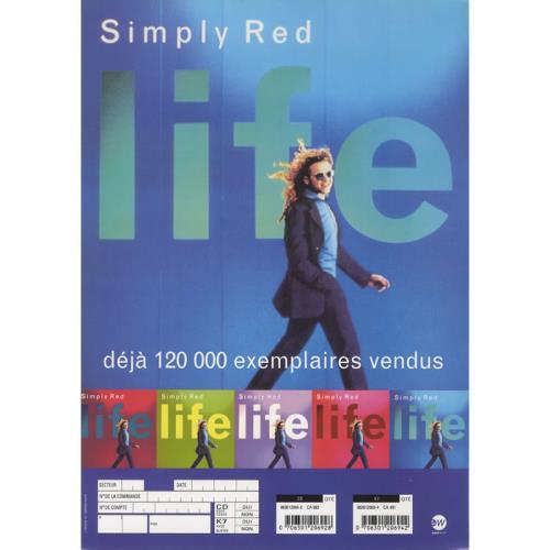 Simply Red Life handbill French REDHBLI449421